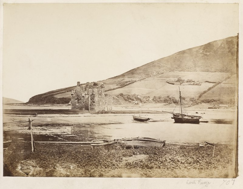 Page 2/6. View of Loch Ranza Castle from South. Titled'Loch Ranza.' PHOTOGRAPH ALBUM NO 146: THE ANNAN ALBUM