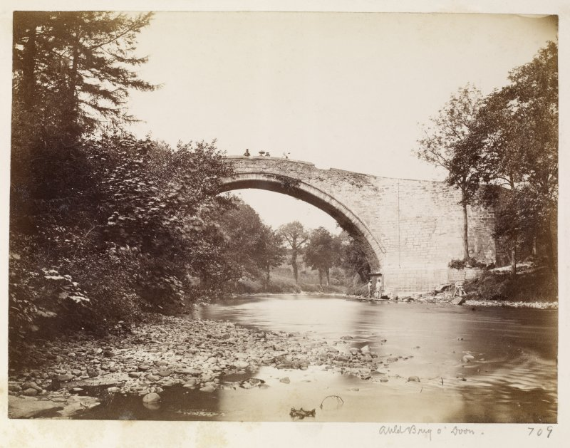 Page 3/2. General view of Old Bridge, Doon. Titled 'Auld Brig O' Doon.' PHOTOGRAPH ALBUM NO 146 : THE ANNAN ALBUM Page 3/2