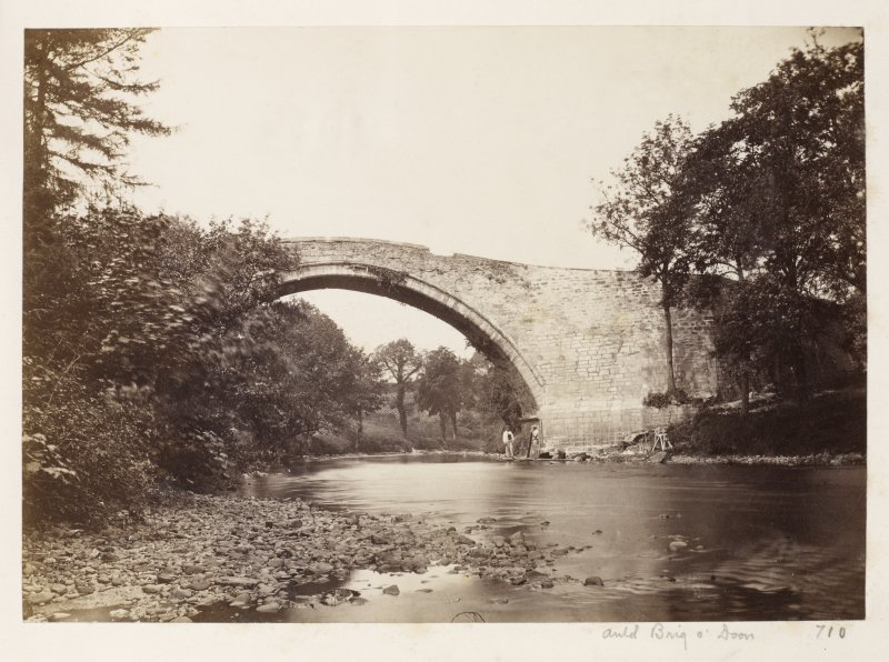 Page 3/3. General view of old bridge, Doon. Titled 'Auld Brig O' Doon.' PHOTOGRAPH ALBUM NO 146 : THE ANNAN ALBUM Page 3/3