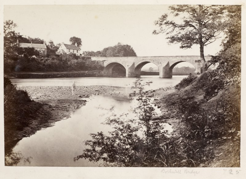 Page 5/6.  View of Bothwell Bridge from South-West. Titled 'Bothwell Bridge.' PHOTOGRAPH ALBUM 146:  THE ANNAN ALBUM Page 5/6