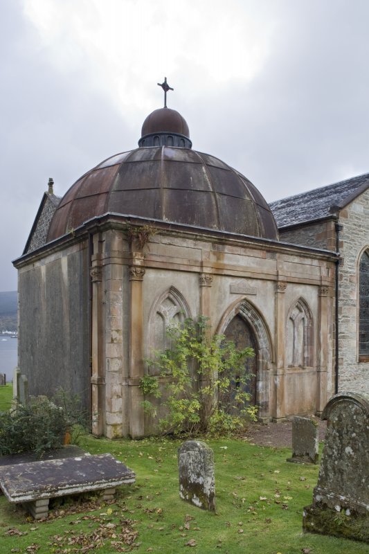 View of principal elevation of Argyll Mausoleum from North-East.
