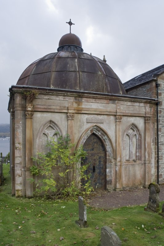 North elevation of the Argyll Mausoleum, Kilmun.