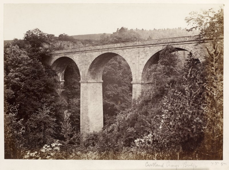 Page 10/6 General view of bridge Titled 'Cartland Craigs Bridge.' PHOTOGRAPH ALBUM No 146: The Annan Album