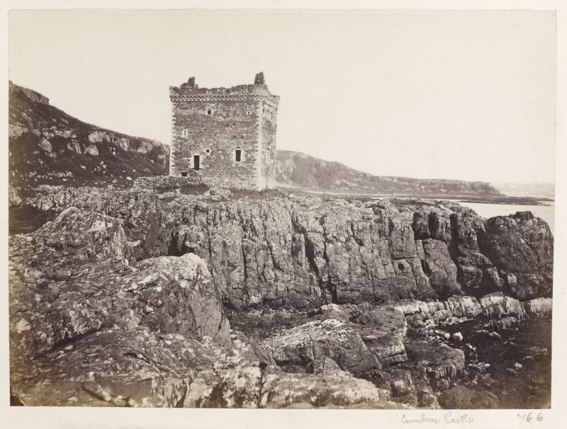 Page 12/5 General view of castle Titled 'Cumbrae Castle.' PHOTOGRAPH ALBUM NO 146: THE ANNAN ALBUM