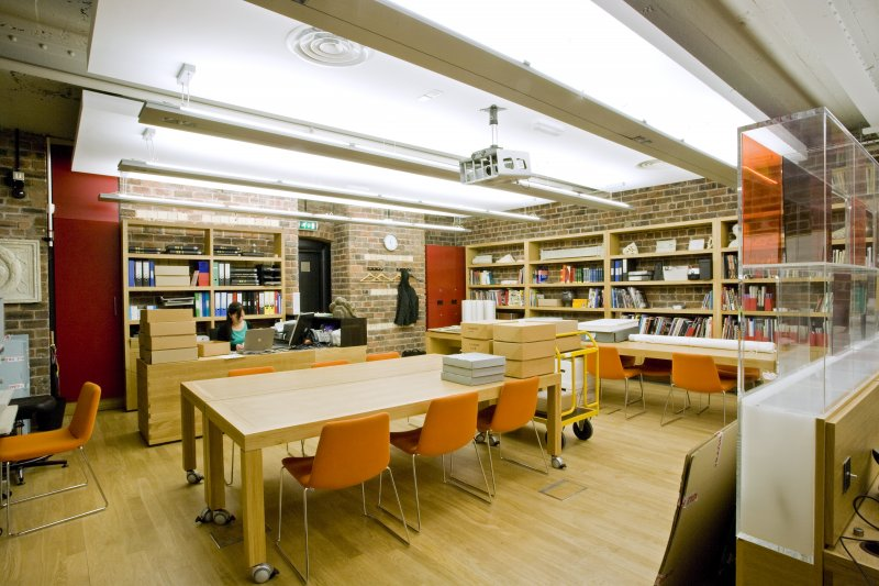 View of refurbished archive search room.