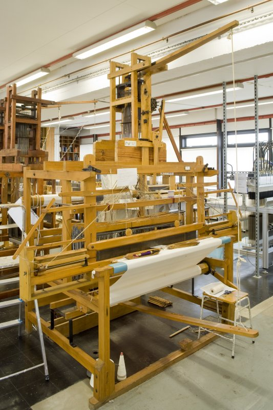 View of weaving loom in Textiles studio within Newbery Tower