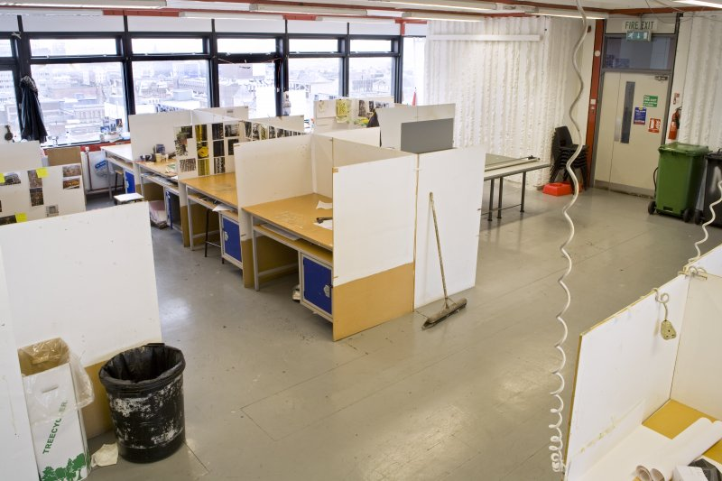 View of textiles department working spaces within Newbery Tower.