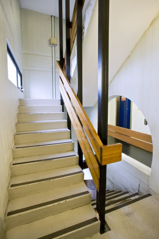 View of stairwell and lift landing within Newbery Tower