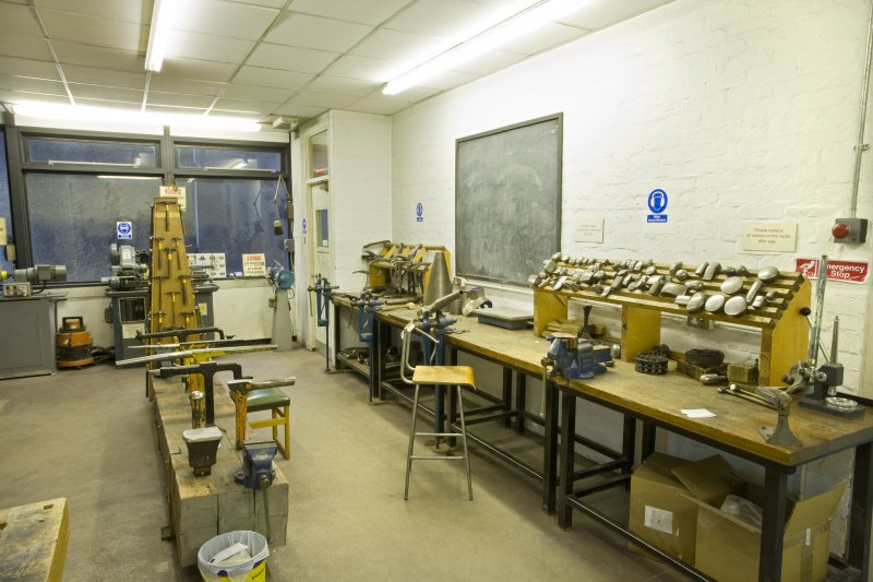 View of workshop in jewellery and silversmithing department within Newbery Tower