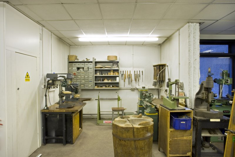 General view of workshop in jewellery and silversmithing department within Newbery Tower