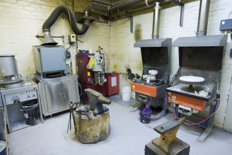 View of foundry area in jewellery and silversmithing department within Newbery Tower