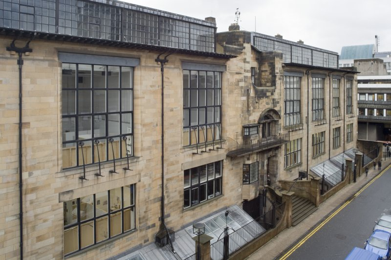 View of the Mackintosh Building north elevation, taken from the Foulis Building