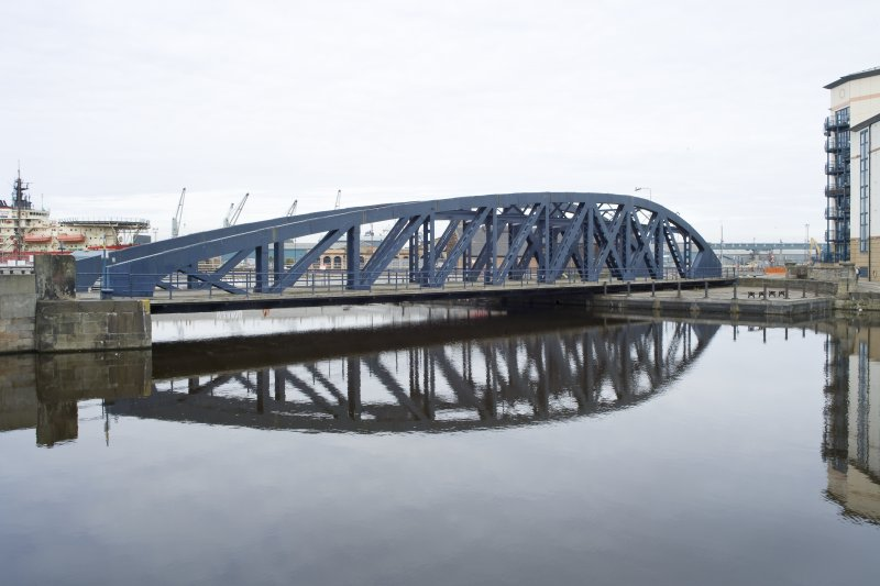 General view of the Victoria Swing Bridge, Leith Docks, Edinburgh, from SSW