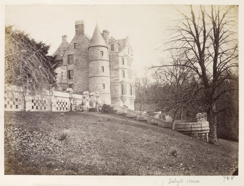 Page 13/1.  View of Dalzell House from SW. PHOTOGRAPH ALBUM No 146: THE ANNAN ALBUM