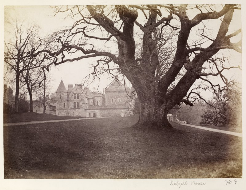 "Page 13/2.  General view of Dalzell House from W. Titled ~""Dalzell House."" PHOTOGRAPH ALBUM No 146: THE ANNAN ALBUM"