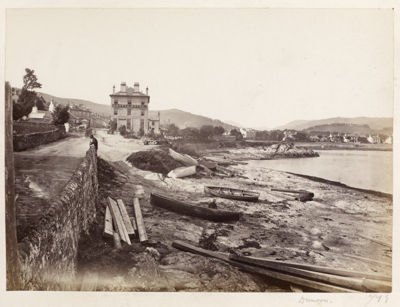 "Page 14/6 View of the shore at Dunooon showing the Argyll Hotel. Titled ""Dunoon."" PHOTOGRAPH ALBUM No. 146: THE THOMAS ANNAN ALBUM."