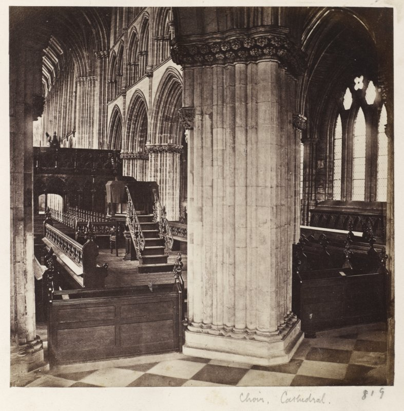Page 19/4	General interior view of choirof Glasgow Cathedral. Titled: 'Choir, Cathedral' PHOTOGRAPH ALBUM NO 146: THE THOMAS ANNAN ALBUM
