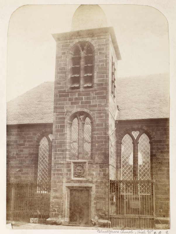 Page 20/2. General view of Blackfriars Church, Glasgow. Titled: 'Blackfriars Church, High Street'. PHOTOGRAPH ALBUM NO 146: THE ANNAN THOMAS ALBUM
