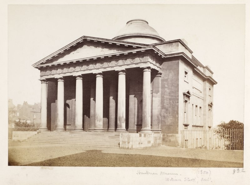 Page 21/5. View of the Hunterian Museum, Glasgow. Titled: 'Hunterian Museum (1804)  William Stark archt.' PHOTOGRAPH ALBUM NO 146: THE ANNAN ALBUM