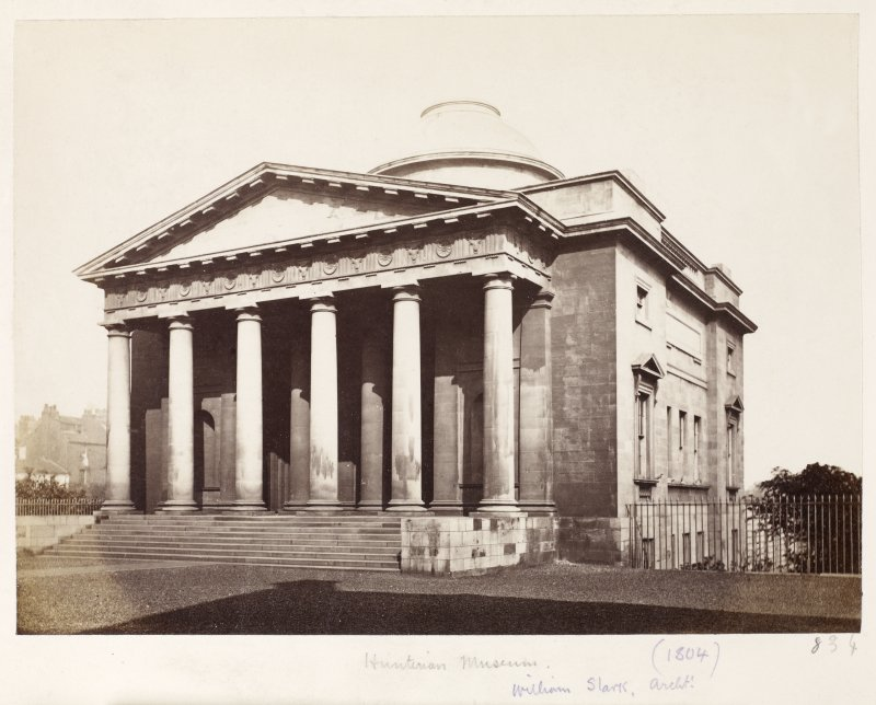Page 22/1. View of the Hunterian Museum, Glasgow. Titled: 'Hunterian Museum (1804)  William Stark archt.' PHOTOGRAPH ALBUM NO 146: THE THOMAS ANNAN ALBUM
