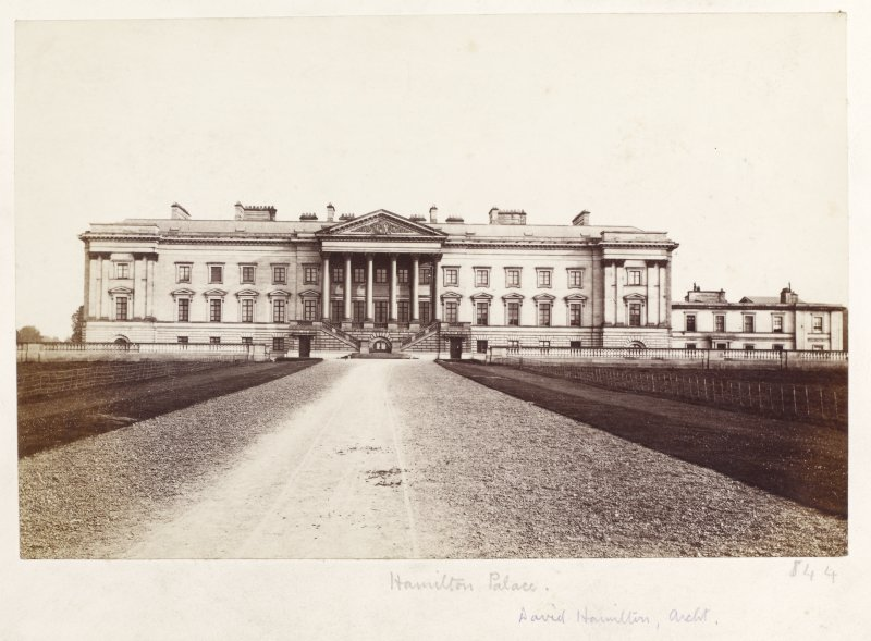 Page 23/5. General view of Hamilton Palace. Titled 'Hamilton Palace, David Hamilton, Archt.' PHOTOGRAPH ALBUM NO 146: THE THOMAS ANNAN ALBUM