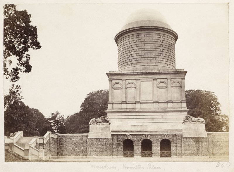 Page 23/6.  View of Mausoleum, Hamilton Palace from East. Titled 'Mausoleum, Hamilton Palace.' PHOTOGRAPH ALBUM No 146: THE THOMAS ANNAN ALBUM.