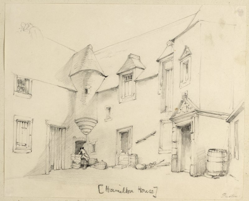 Drawing of Hamilton House.