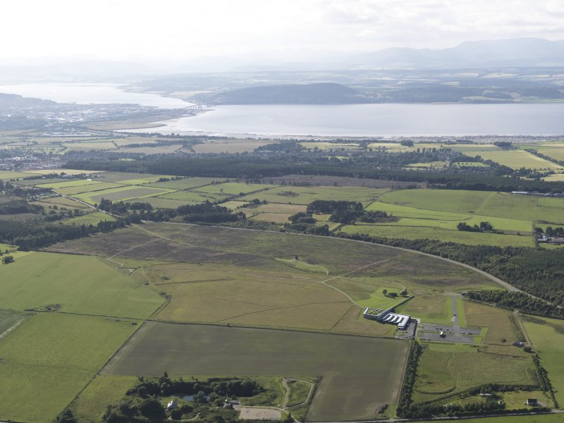 General oblique aerial view of Inverness with the Beauly Firth and Kessock Bridge beyond, looking to the NW.