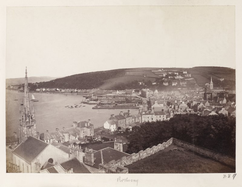Page 30/1 General view from Chapel Hill [NS 0839 6482], Rothesay, from the W. Titled 'Rothesay' PHOTOGRAPH ALBUM No. 146: THE THOMAS ANNAN ALBUM