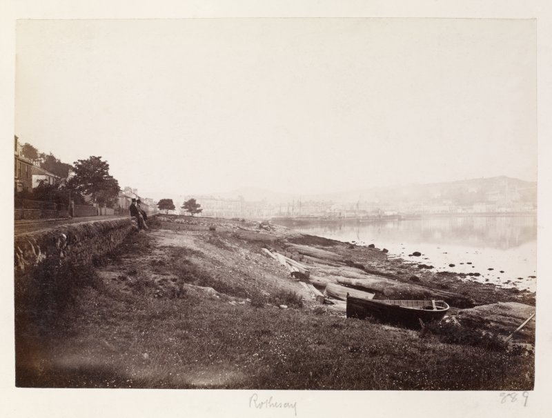 Page 30/3 General view from Battery Place [NS 092 649], Rothesay, taken from the NE. Titled 'Rothesay' PHOTOGRAPH ALBUM No. 146: THE THOMAS ANNAN ALBUM.