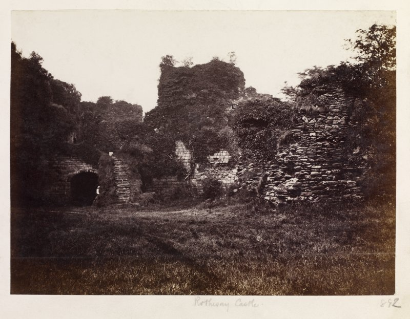 Page 30/6 View of Rothesay Castle interior (NE sector), taken from the SW. Titled 'Rothesay Castle' PHOTOGRAPH ALBUM No. 146: THE THOMAS ANNAN ALBUM.