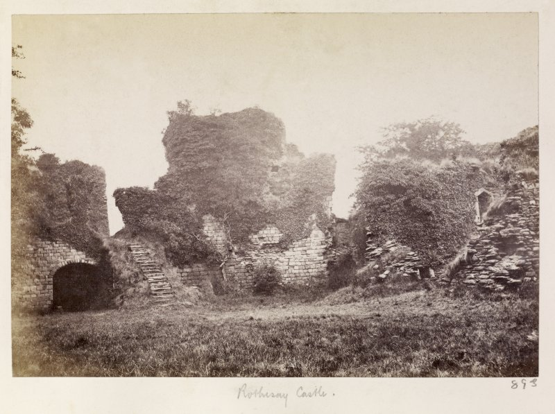 Page 31/1 View of castle interior (NE sector), Rothesay,  taken from the SW. Titled 'Rothesay.' PHOTOGRAPH ALBUM No.146: THE THOMAS ANNAN ALBUM