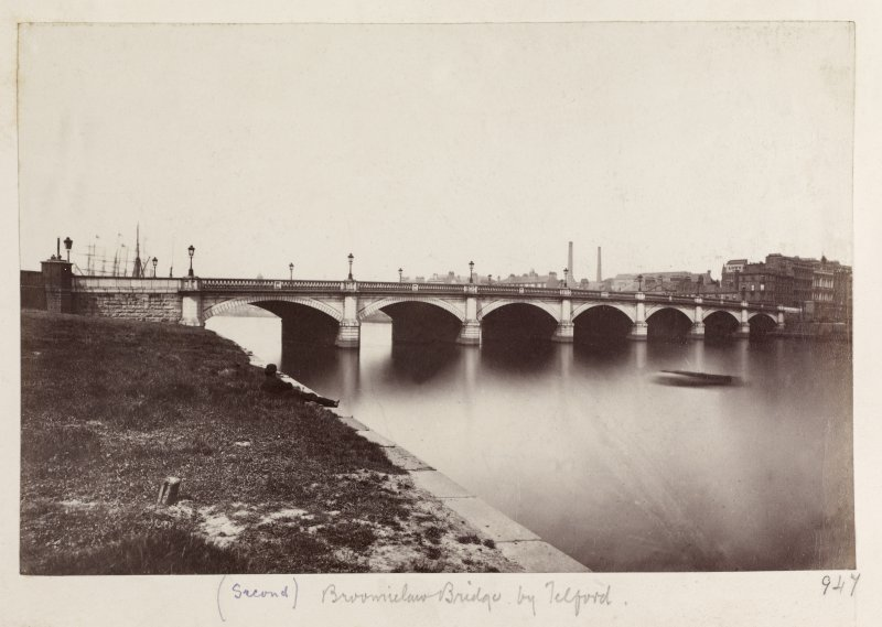 Page 32v/4  Titled '(Second) Broomielaw Bridge by Telford.' PHOTOGRAPH ALBUM No.146; THE THOMAS ANNAN ALBUM.