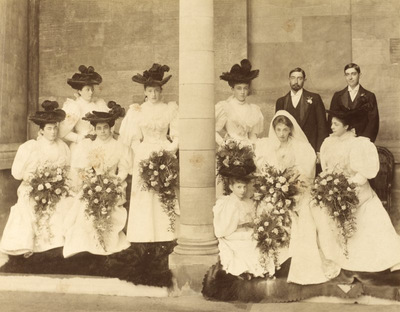 View of wedding party. Page 4. PHOTOGRAPH ALBUM No 117:  The Douglas Castle Album.