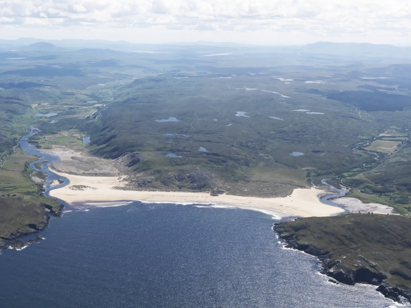 General oblique aerial view of Torrisdale Bay, taken from the N.