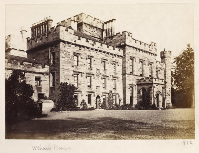 Page 34/2. General view of Wishaw House from NE. Titled 'Wishaw House.' PHOTOGRAPH ALBUM No 146: THETHOMAS ANNAN ALBUM