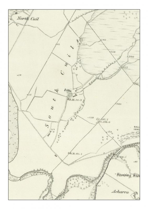 1st edition of the OS 6-inch map (Argyllshire and Buteshire 1875, sheet xliii) extract