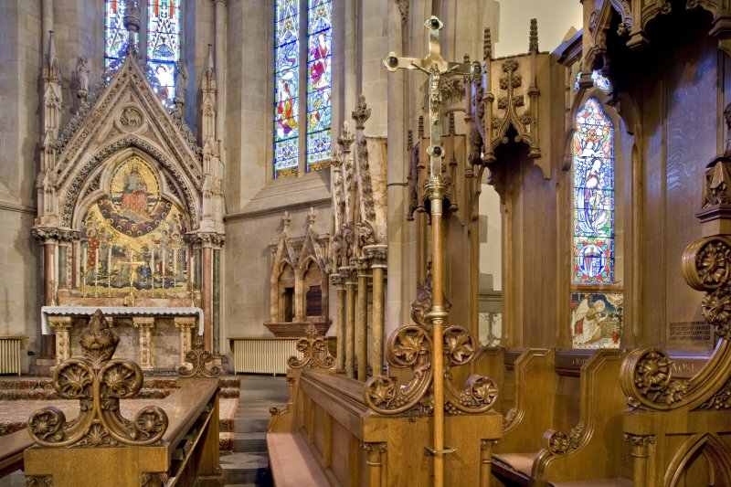 Interior. Chancel. Choir stalls. Detail