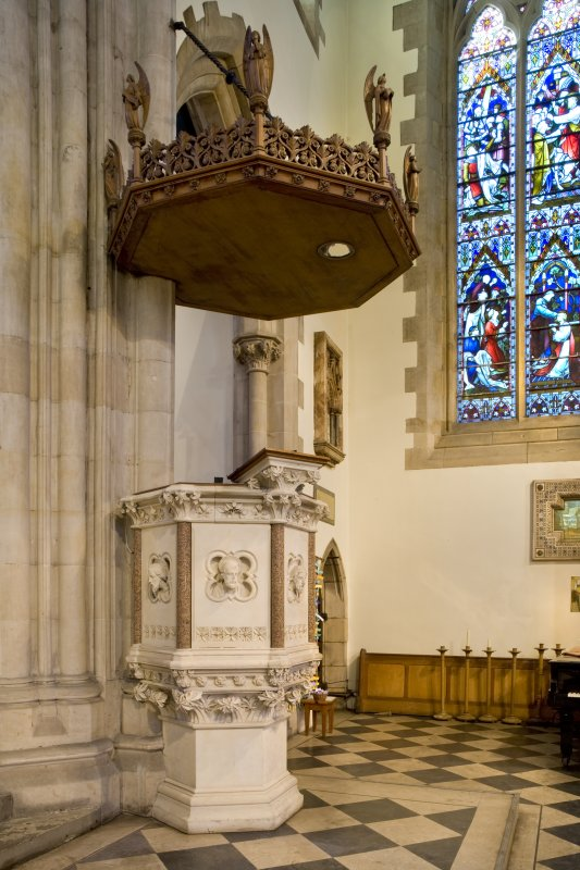 Interior. Pulpit. Detail