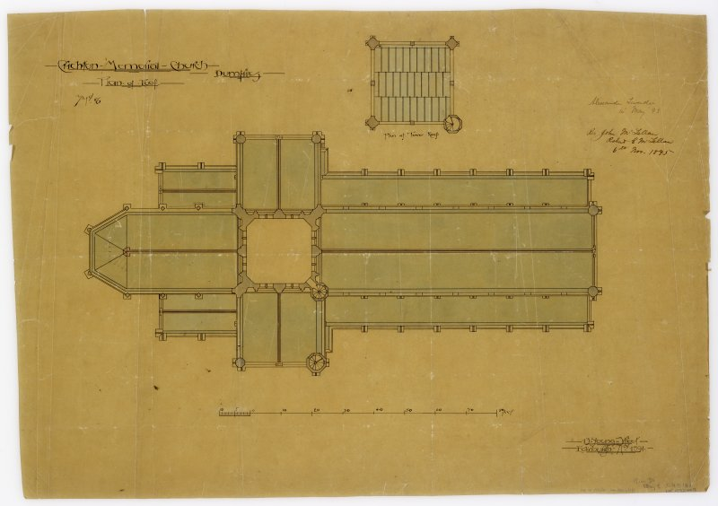 Crichton Memorial Church. Plan of roof including plan of tower roof.