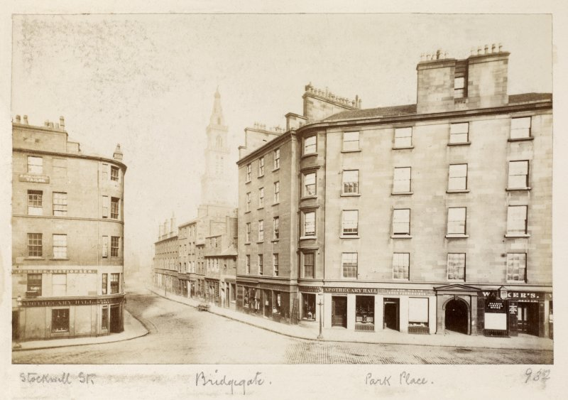 Page 35V/1    Glasgow, Bridgegate, general. Titled 'Stockwell Street, Bridgegate, Park Place.' PHOTOGRAPH ALBUM NO 146: THE THOMAS ANNAN ALBUM