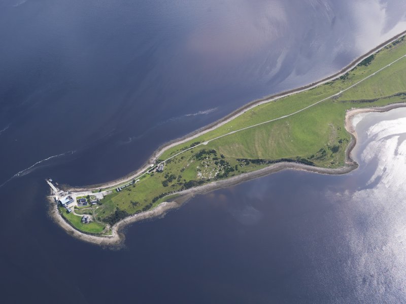 Oblique aerial view of Meikle Ferry, looking ENE.