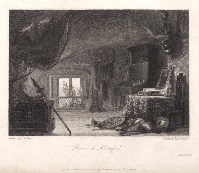 Engraving of a room at Abbotsford.