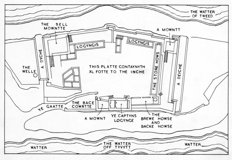 Key to 16th Century plan.