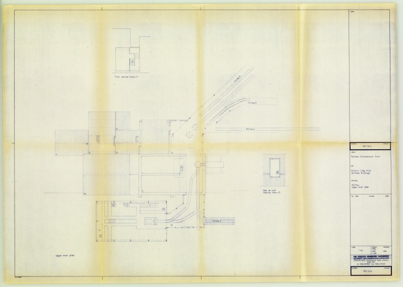 Digital copy of Drawing 'Birkhill Clay Mine Surface Buildings: Upper level plan