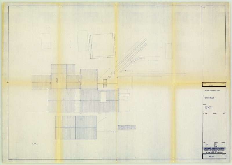 Digital copy of Drawing 'Birkhill Clay Mine Surface Buildings: Roof plan