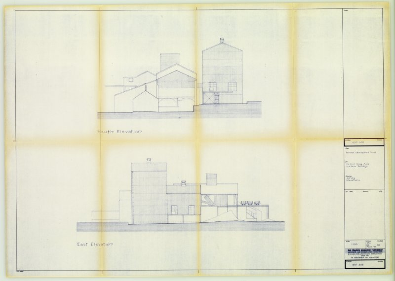 Digital copy of Drawing 'Birkhill Clay Mine Surface Buildings: South and East Elevations