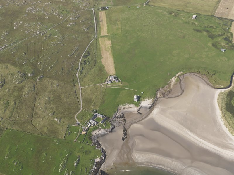Oblique aerial view centred on Breachacha House, Col, looking to the N.