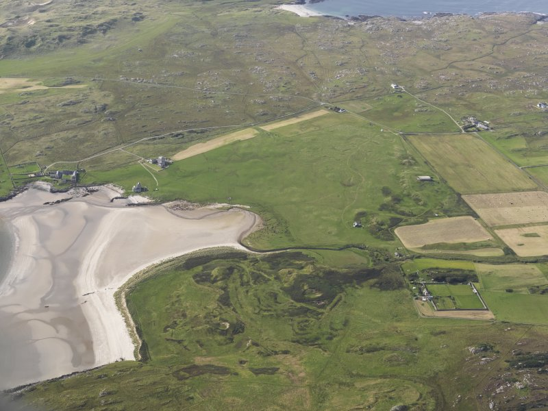 Oblique aerial view centred on Breachacha House, Col, looking to the WNW.