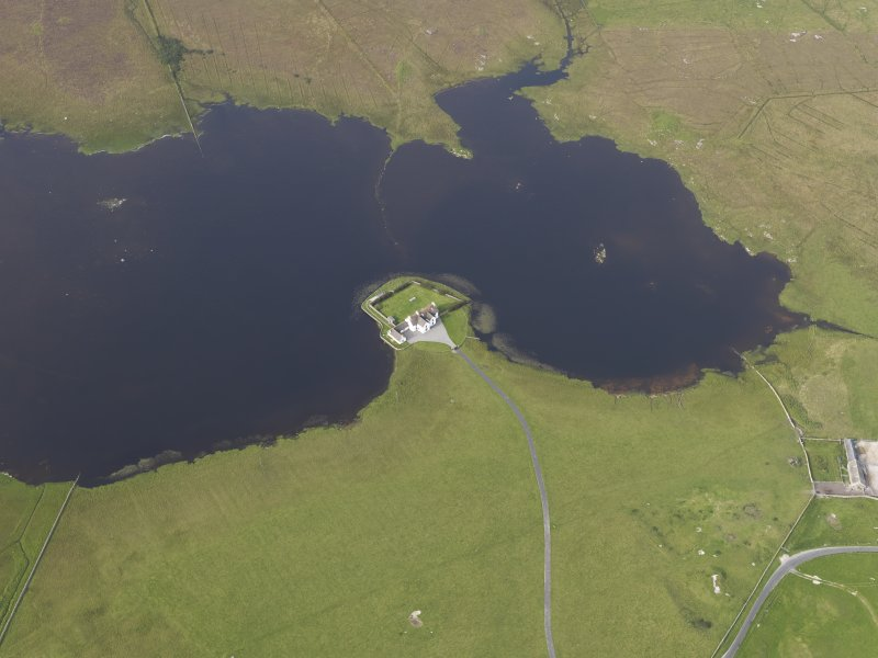 Oblique aerial view of Island House, Tiree, looking to the NNE.